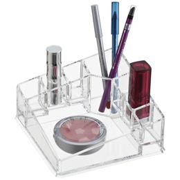 Acrylic Corner Cosmetic Organizer   The Container Store