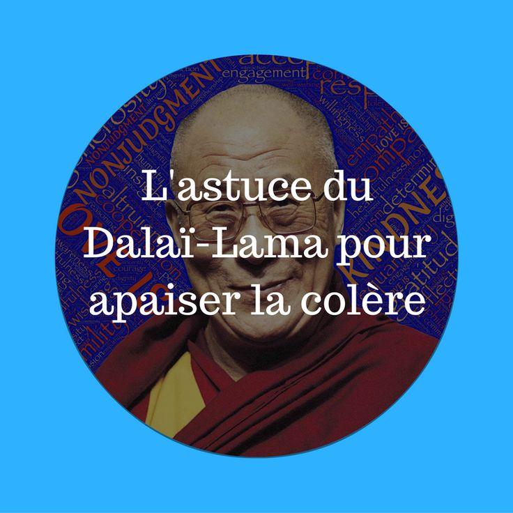 """Je vous invite à découvrir une astuce du Dalaï-Lama pour apaiser la colère. Elle est extraite du livre """"365 méditations quotidiennes"""" : """"Quelqu'un m'a écrit que lorsqu'il méditait, l'image du Dalaï-Lama lui venait à l'esprit et"""