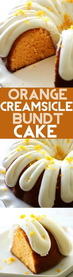 This Orange Creamsicle Bundt Cake is so moist and has such a refreshing flavor…