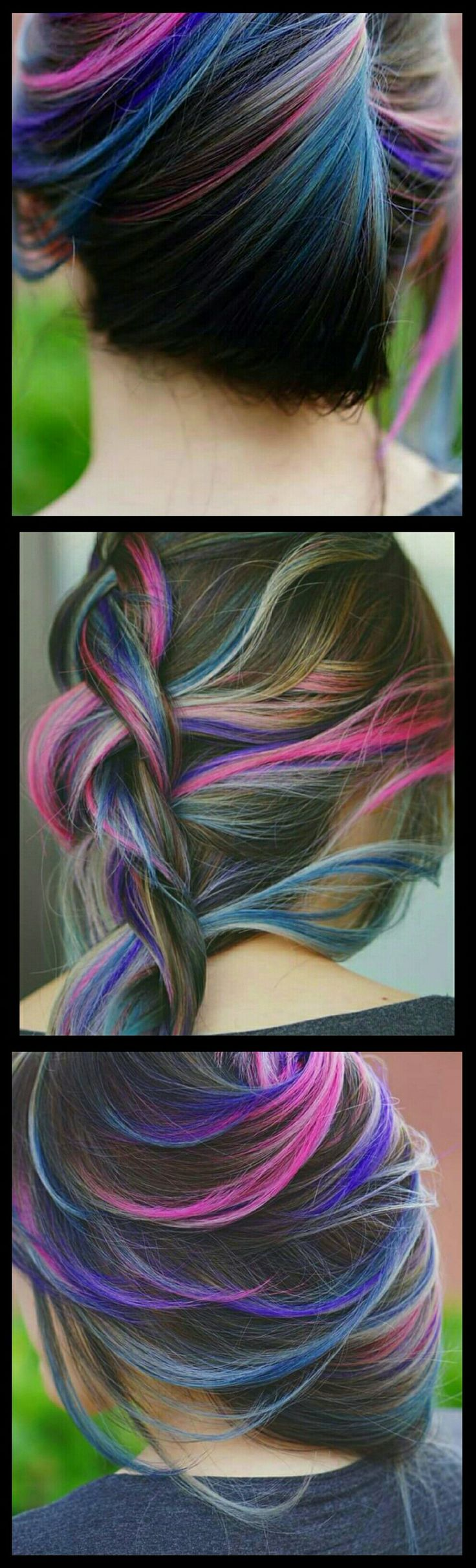 Pink blue streak dyed hair inspiration @alix_maya                                                                                                                                                                                 More