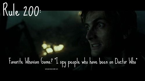 """""""I spy people who have been on Doctor Who."""" Admittedly it is super easy as everyone has been on Doctor Who."""