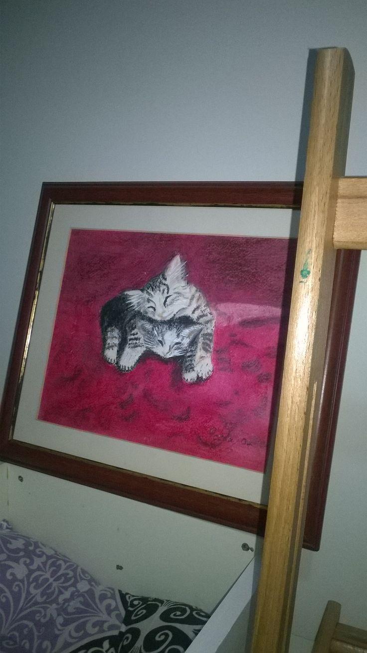 #pastelboya #minnoşlar eskilerden #resim #tablo #pastel #boya #pisiler #kediler #cats