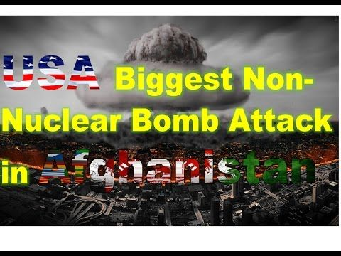 awesome US jets drop biggest bomb on Afghanistan BREAKING NEWS TODAY