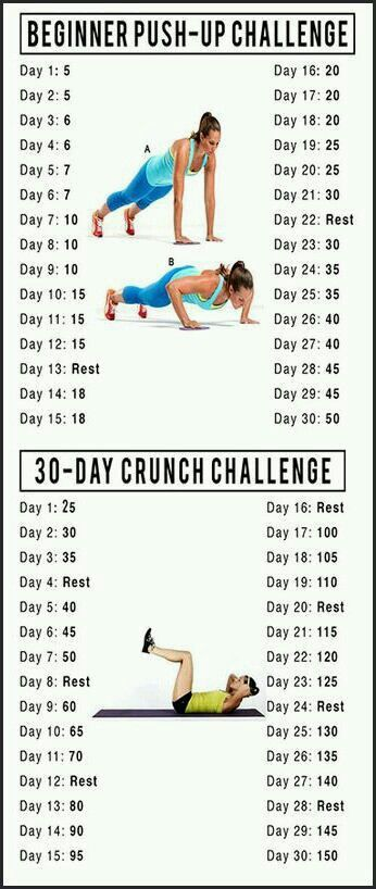 Push up and crunches challenge