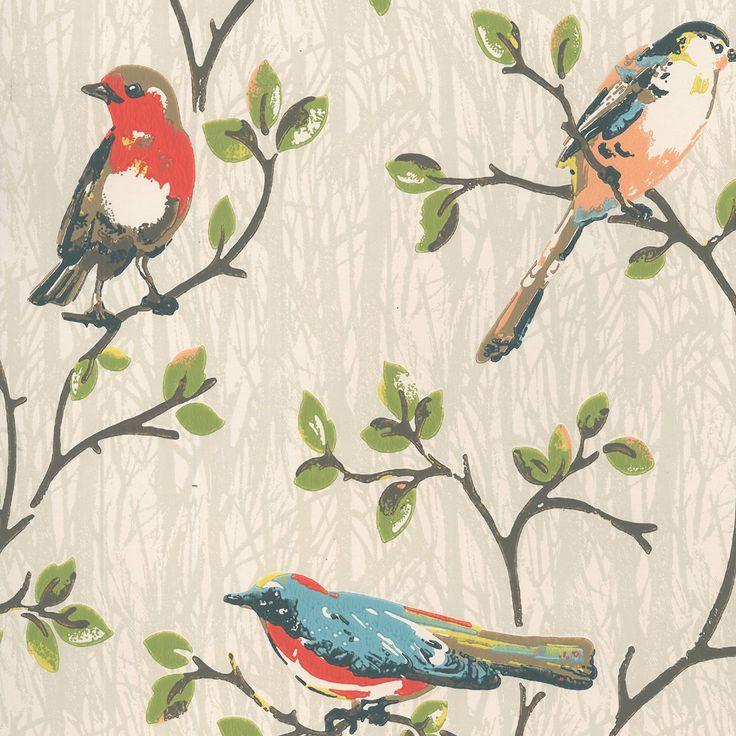 Wallpaper | Garden Birds Wallpaper | CathKidston