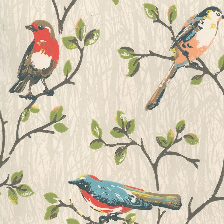 ** Cath Kidston Garden Birds Wallpaper ** this is the wallpaper for at least one wall in the office/craft room.