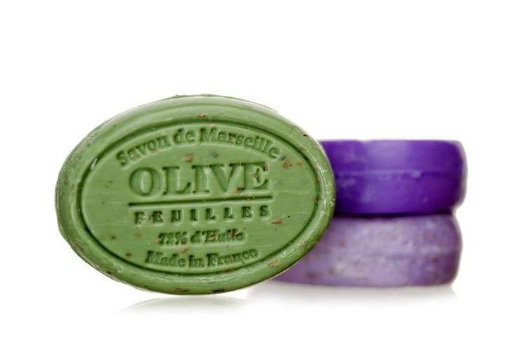 Mýdlo s peelingem Marseille 100 g ovál - oliva květ   Bella Rose