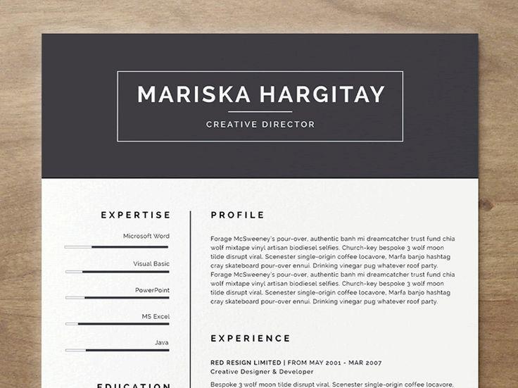 20 beautiful  u0026 free resume templates for designers
