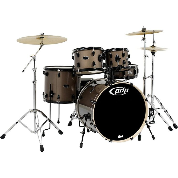PDP Mainstage 5-Piece Drum Set w/Hardware and Paiste Cymbals Bronze Metallic