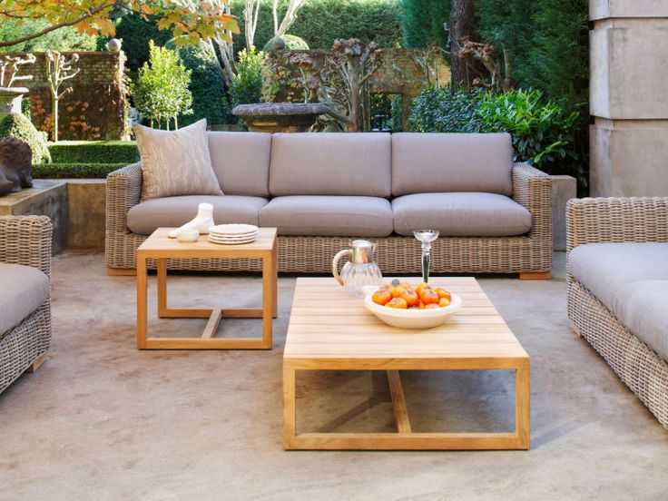 Eco Outdoor Claybourne low and side tables with Claybourne lounge. Eco Outdoor | livelifeoutdoors | Outdoor furniture | Patio furniture | Outdoor dining | Teak outdoor | Outdoor design | Outdoor style | Outdoor luxury | Designer outdoor furniture | Outdoor design inspiration | Outdoor design ideas | Outdoor Styling | Outdoor ideas | Luxury homes