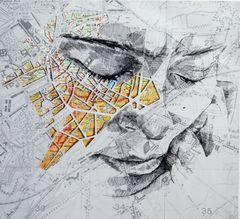 """Ed Fairburn, """"Western Front III,"""" pen and ink  http://www.mikewrightgallery.com/ed-fairburn.html"""