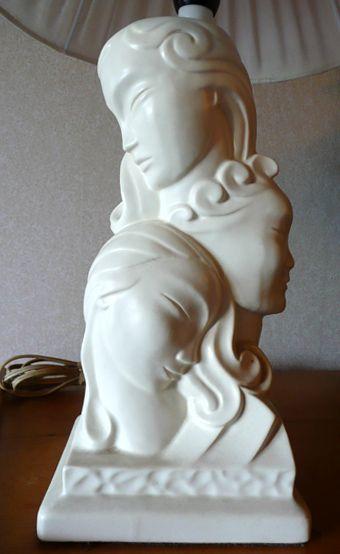 Crown Lynn: Three Faces of Eve lamp