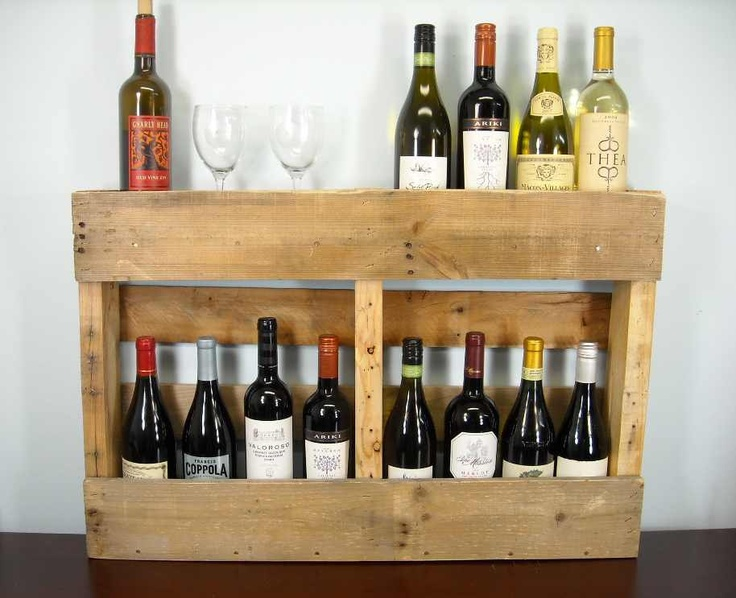 Pallet Wine Rack Rustic Wine Shelf Book Shelf Wine Box