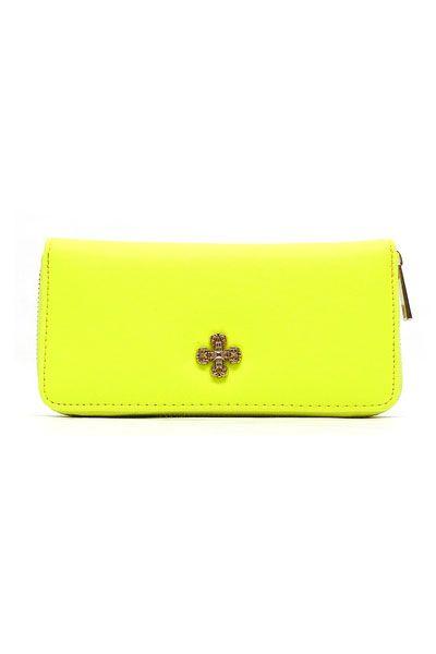 Neon Yellow wallet $29.99 view it at fuschia.co.nz