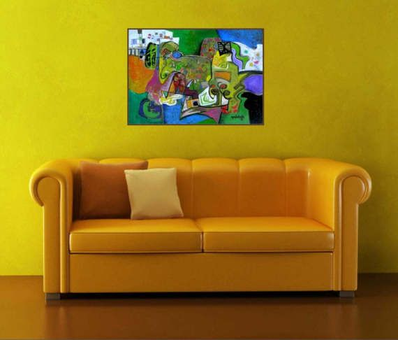 Original Oil Painting On Canvas Abstract Art by PaintingsGalceava