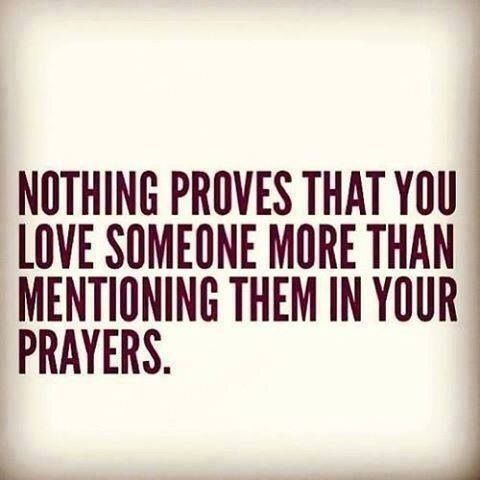 Praying for others More