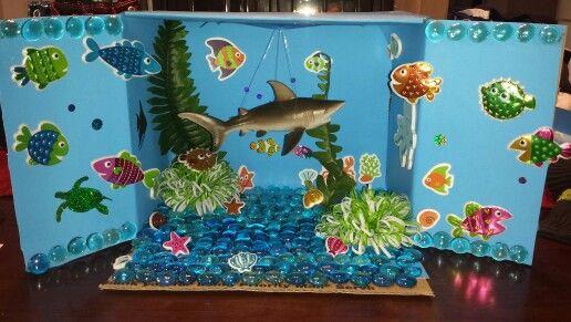 Shark Diorama First Grade