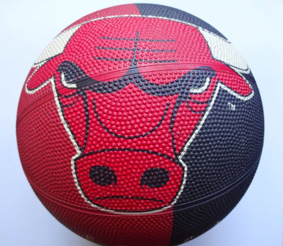 Vintage Spalding Chicago Bulls Basketball by WylieOwlVintage, $15.00