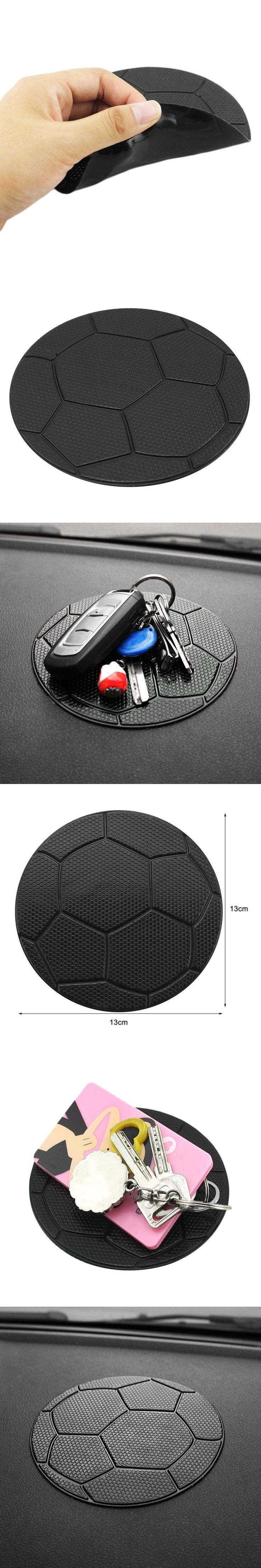 Silicone Football Pattern Car Auto Styling Anti Slip Sticky Pad Cushion for Cell Phone Coins Key Chain Sunglasses hot sale