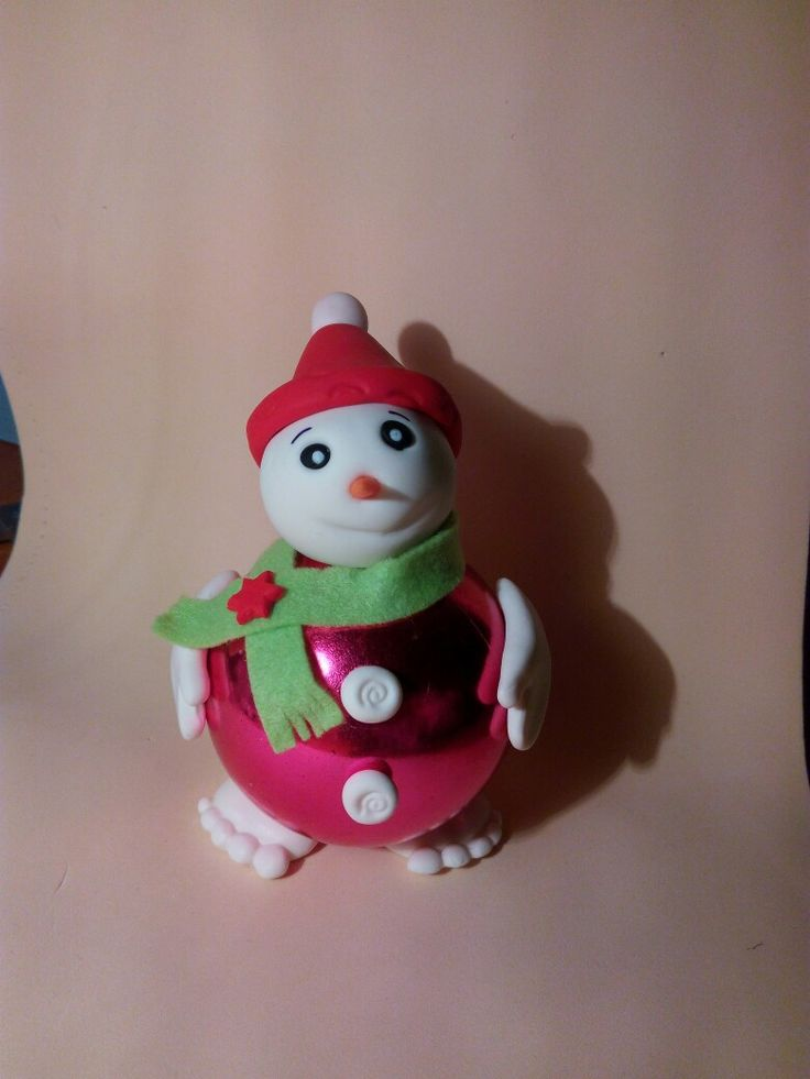 Bola de Natal-Boneco de Neve