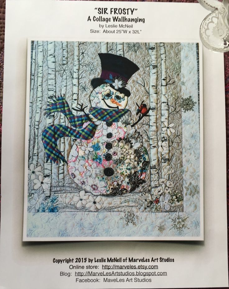 MarveLes Art Studios sir frosty collage kits