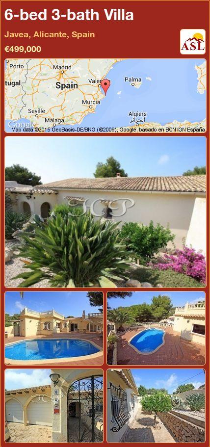 6-bed 3-bath Villa in Javea, Alicante, Spain ►€499,000 #PropertyForSaleInSpain