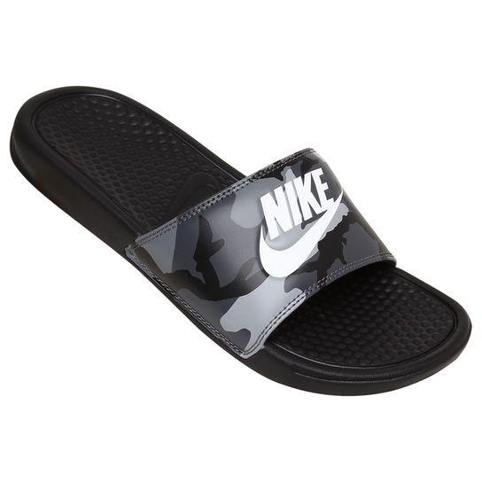 Chinelo Nike Benassi Jdi Print - Preto+Branco