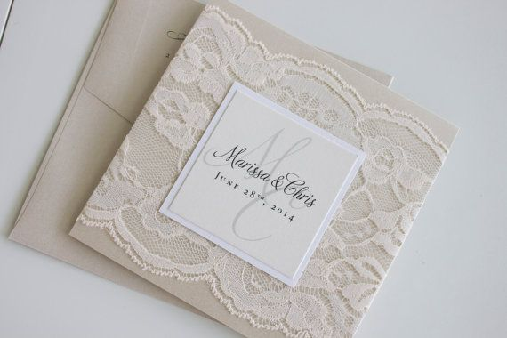 Beautiful Neutral Custom Lace Wedding by madisonjennifer on Etsy