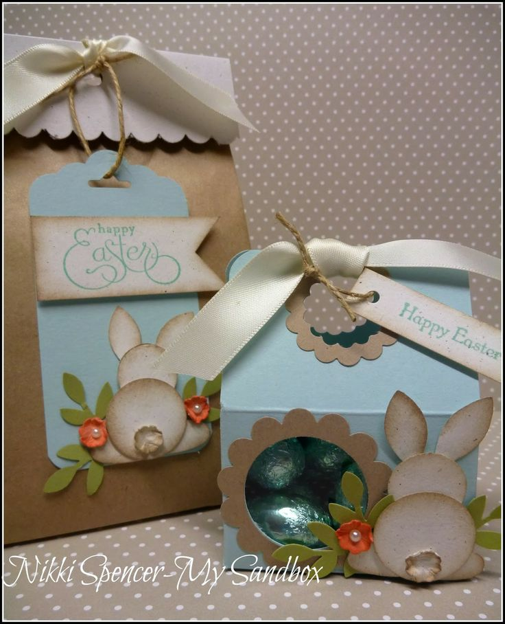 Tuesday, April 15, 2014 My Sandbox: Easter Bunny Box & Bag!.....Tutorial http://dostamping.typepad.com/dostamping_with_dawn/2012/10/video-stampin-up-mini-treat-tote-box.html