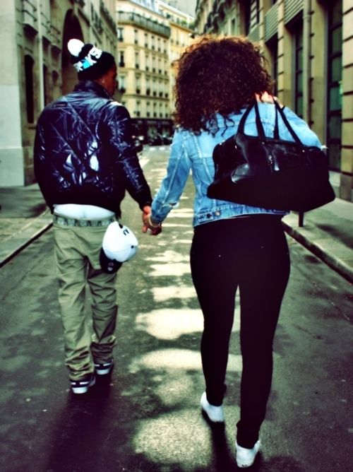 Black couples in love couple pinterest yes i can - Photo couple swag ...