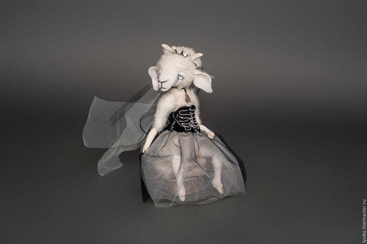 Купить Белая Невеста (Козлик Друзья Тедди) - тедди, друзья тедди, друзья мишек тедди