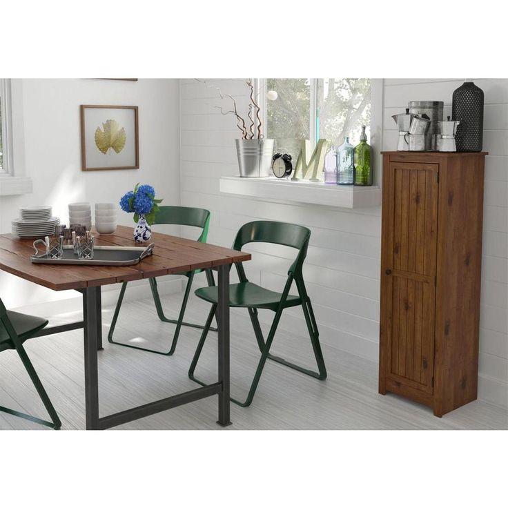 Single Door Pantry in Old Fashion Pine