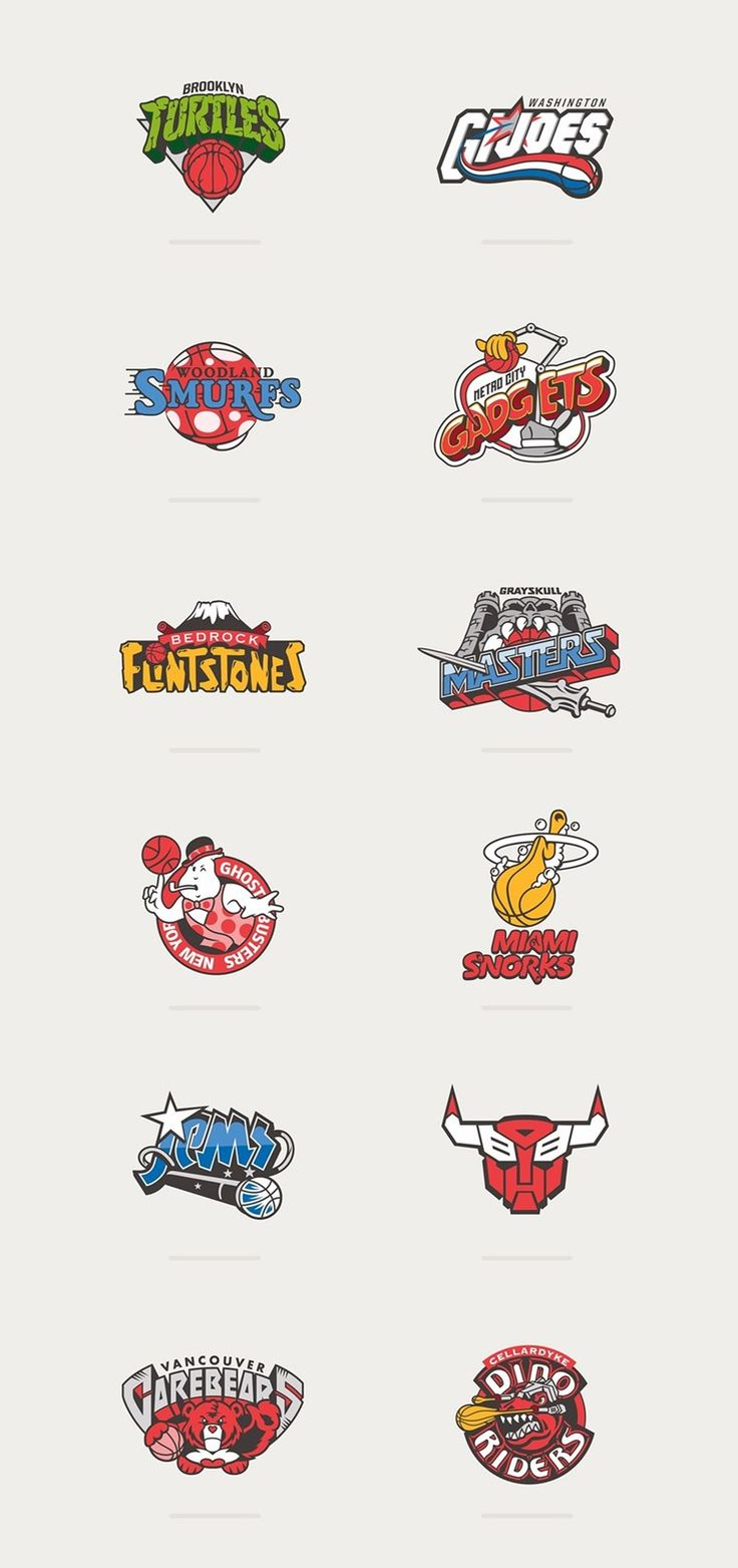 80s Cartoons Meet Basketball Logos... SO GOOOD!