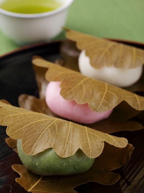 Kashiwa-mochi, a popular treat prepared for Kodomo No Hi, Children's Day: