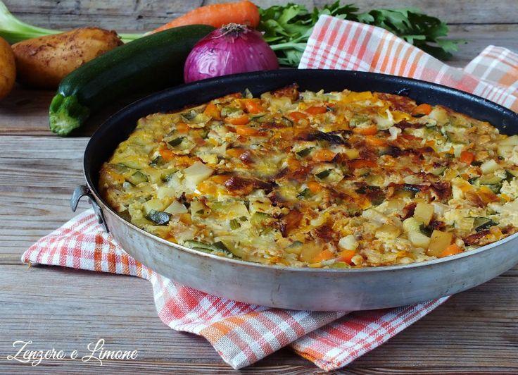 Una frittata di verdure, ricca di colori e di sapori, è un buon piatto da portare in tavola. Si può preparare in anticipo ed è buona sia tiepida che fredda.