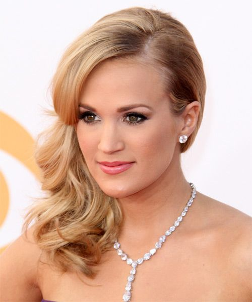 Carrie Underwood Hairstyle - Formal Half Up. Click on the image to try on this hairstyle!