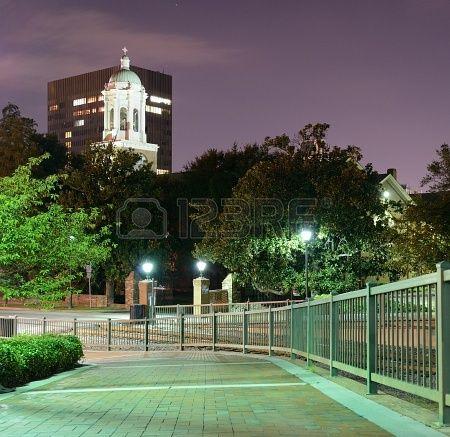 Nighttime at Augusta, Georgia's Riverwalk