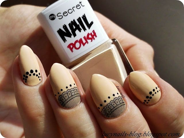 My Secret Nail Polish 274 Desert Bloom i koronkowy half moons