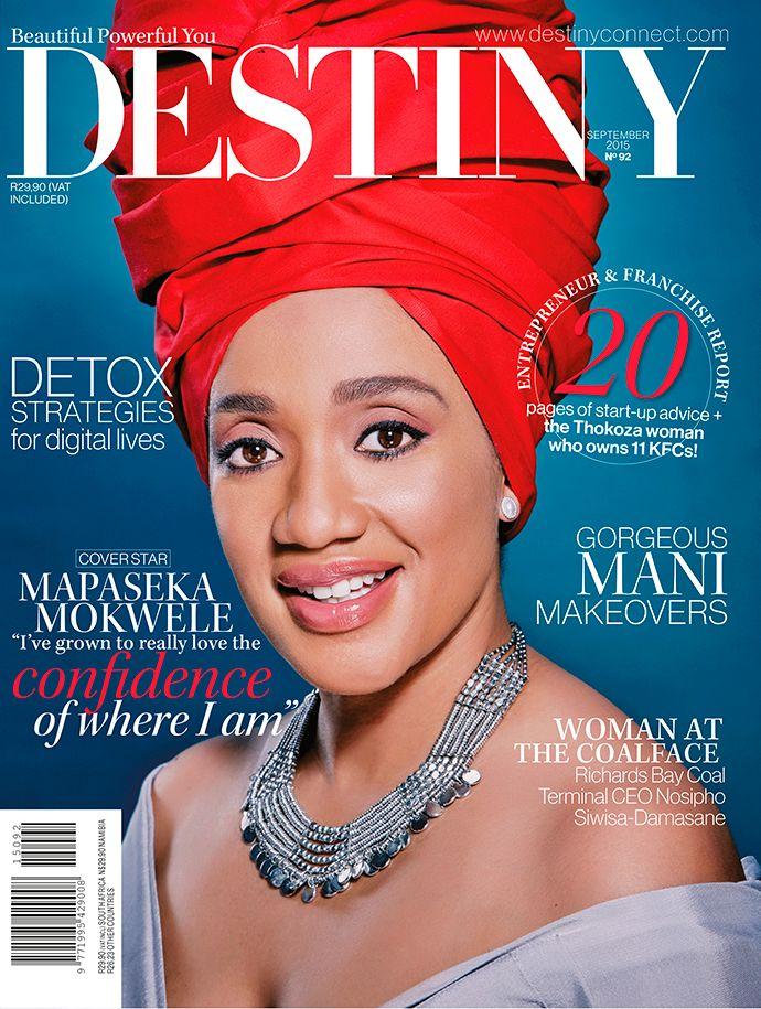 Mapaseka Mokwele, Destiny September 2015 Cover