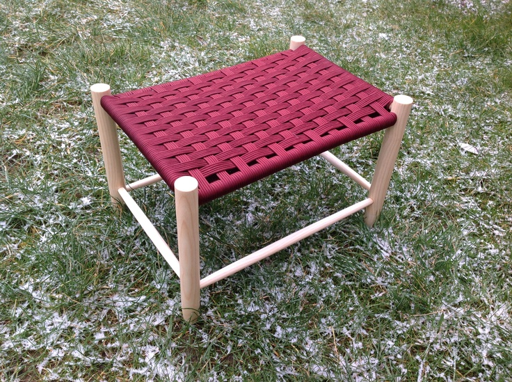 Wide stool in Devon Ash with a woven seat in burgundy paracord. & 31 best Seat weaving images on Pinterest | Chairs Chair repair ... islam-shia.org
