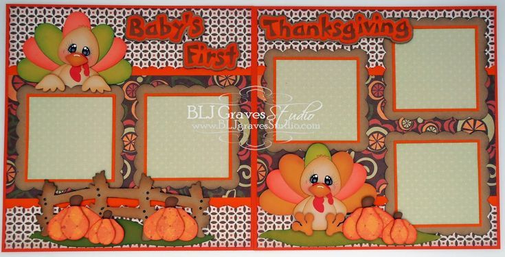 BLJ Graves Studio: Baby's First Thanksgiving Double Page Layout – Scrapbooking Layouts & More