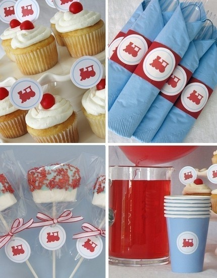Train themed party supplies