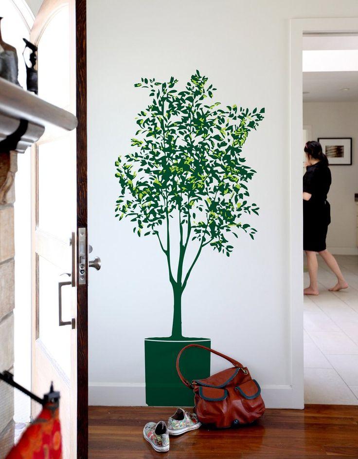 деревья в интерьере картинки мебель