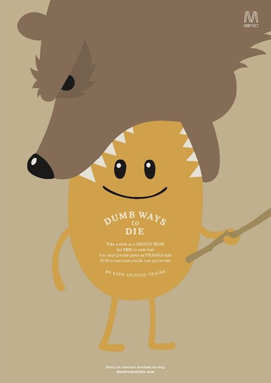Print ads Dumb Ways to Die