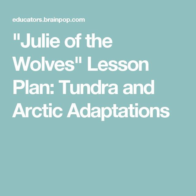 """""""Julie of the Wolves"""" Lesson Plan: Tundra and Arctic Adaptations"""