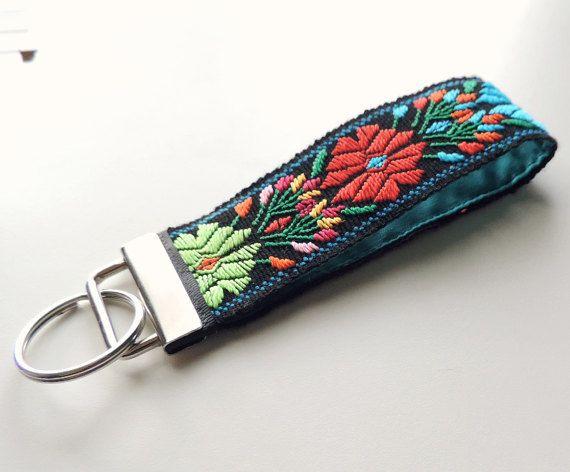 Keychain lanyard fabric key fob wrist lanyard wrist by VivaGuate