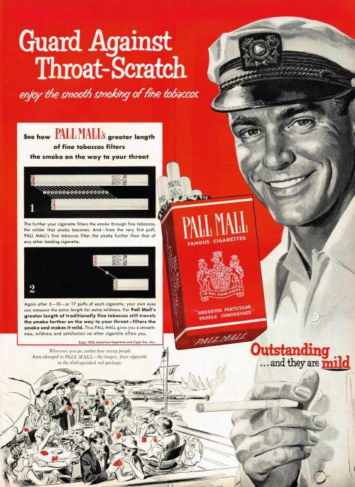 Pall Mall Cigarettes, 1952