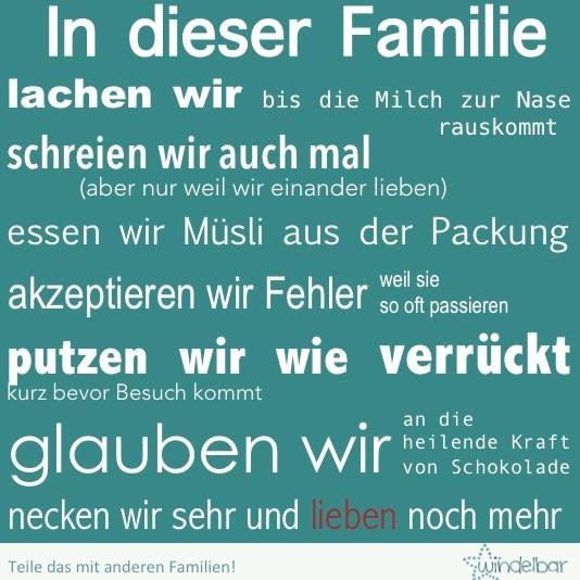 In dieser Familie...