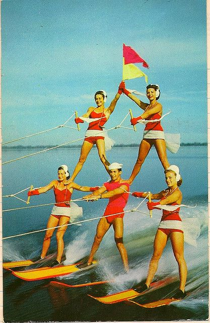 Cypress Gardens, water ski shows. Florida. Re-pinning: Ohhh, I forgot about this place! I visited Cypress Gardens when my aunts lived in Tampa in the 70s or 80s.