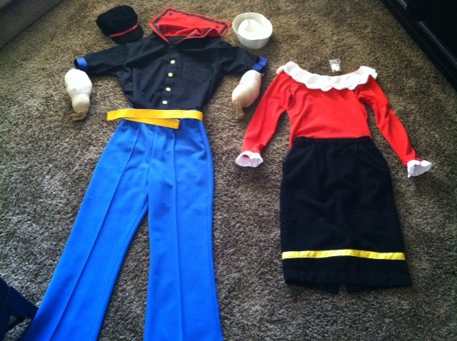 popeye olive oyl halloween costumes made by me. Black Bedroom Furniture Sets. Home Design Ideas